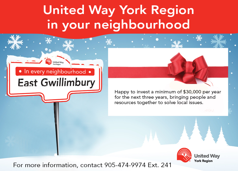 Seasons greetings East Gwillimbury United Way