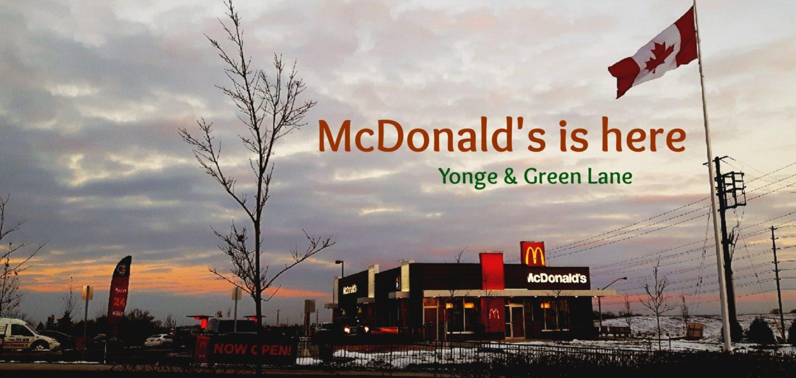 McDonald's Open Its Doors in East Gwillimbury